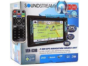 """Soundstream VRN-63HB 6.2"""" Touchscreen 2-DIN DVD, CD/MP3, AM/FM Receiver w/ GPS Navigation & Android PhoneLink"""