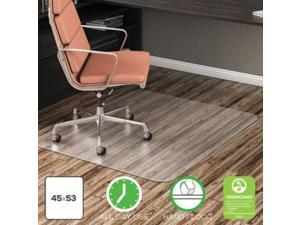 Deflect-O EconoMat Anytime Use Chair Mat for Hard Floor 45 x 53 Clear CM21242COM