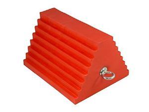 AME Urethane Wheel Chock, Orange 27In To 32In Tires 15324