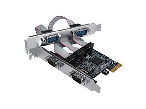ADDS FOUR RS-232 SERIAL PORTS TO A PCI EXPRESS ENABLED COMPUTER