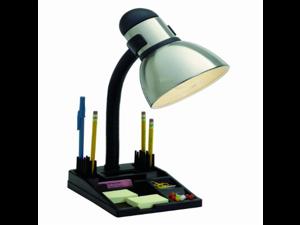 Satco Products 76/356 Organizer Desk Lamp, Steel/Black