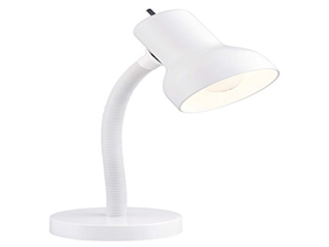 Satco Products SF77/538 Goose Neck Desk Lamp, White