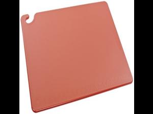 "San Jamar CB182412 Cut-N-Carry Co-Polymer Cutting Board, 24"" Length x 18"" Width x 1/2"" Thick, Red"