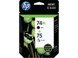 Hp CZ139FN 74Xl/75 Black / Tri- color combo pack Ink Cartridge