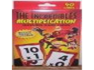 The Incredibles Multiplication Learning Game Cards