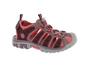 Hi-Tec Shore Kids Closed-Toe Sandals Water Friendly with Hook-and-Loop fastener - Size 2 (Plum)