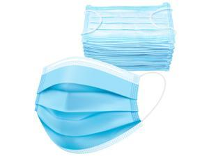 1000 Pack Disposable Face Masks w/ Elastic Ear Loop, 3 Ply Comfortable & Breathable for Blocking Dust Air Pollution Dust Protection
