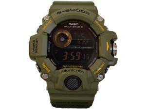 Casio G-Shock Digital Dial Green Resin Men's Watch