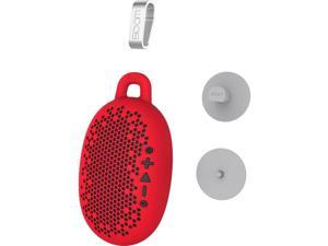 Boom Urchin Portable Bluetooth Waterproof Speaker with Silicone Skin Cover - Red