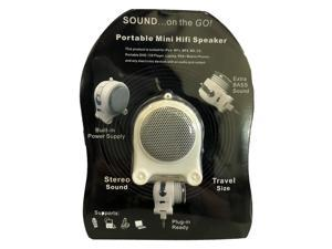 Pony Portable Mini Hifi Rechargeable Speaker with Extra Bass Sound MP3 Player - White
