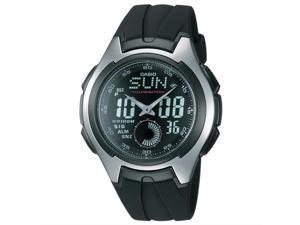 Casio AQ-160W-1BV Men's Analog/Digital Rubber Silicone Strap Sport Watch