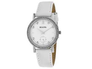 Bulova Women's Crystal Watch Quartz Mineral Crystal 96L245