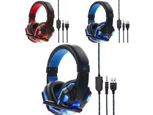 HOT 3.5mm Gaming PC Gamer Bass Casque with Mic Wired LED Gaming Headset Headband Headphone with Mic for PS4/XBOX /ONE