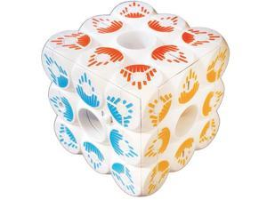 ZoomQube 6-Sided Light Up Cube for up to 6 Players, Music and Prompt Sounds