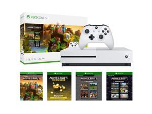 Microsoft Xbox One S 1TB Gaming System and Minecraft Creators Bundle - White