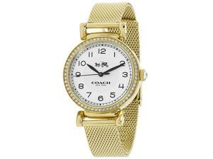 Coach 14502652 Madison Gold Mesh Stainless Steel 25mm Case Women's Watch