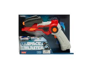 Lasertech Space Blaster Toy Gun and Sword 2-in-1 Light Up Weapon for Kids - Red