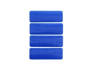 Car Stickers Blue Reflective Safety Warning Tape Reflector Decal 8 x 3cm 4pcs
