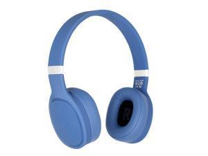 Bluetooth Deep Bass Over-Ear Hi-Fi Wireless Headphones w/ Built-In Mic, Blue