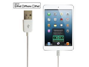 RND Apple Certified Lightning to USB 1.5FT Cable for iPhone (6/6 Plus/6S/6S Plus/5/5S/5C/SE) iPad (Pro/Air/Mini) iPod and Siri Remote Data Sync and Charge 8-Pin Cable (1.5 Feet/.5 M/White)