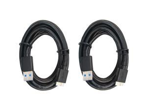 RND USB 3.0 Fast Super Speed Cable (6 feet/black) compatible with Note 3  Samsung Galaxy S5  and any USB 3.0 devices - Bundle of two