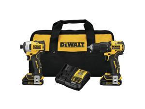 Dewalt DCK279C2 ATOMIC 20V MAX Lithium-Ion Brushless Cordless 1/2 in. Hammer Drill Driver / 1/4 in. Impact Driver Combo Kit