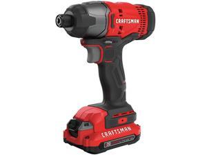 Craftsman CMCF800C2R 20V Brushed Lithium-Ion 1/4 in. Cordless Impact Driver Kit (1.3 Ah)