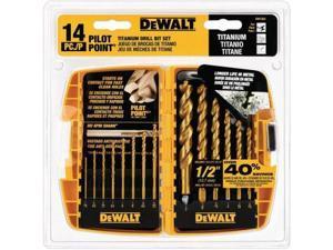 DW1354 14-Piece Titanium Drill Bit Set
