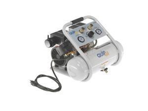 Quipall 2-1-SIL 1 HP 1.6 Gallon Oil-Free Hotdog Air Compressor
