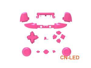 WPS Matte Pink ABXY Dpad Triggers Full Buttons Set Mod Kits for Newest Xbox One Slim/Xbox one S Controller with Screwdriver (Torx T6 T8) Set  for 1708 version