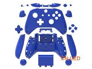 WPS Matte Blue Case Housing Full Shell Set Faceplates + ABXY Buttons + RB LB Bumpers + Right/Left Rails for Xbox One S Slim  (3.5mm Headphone Jack) Controllers for 1708 version