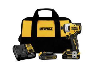 Dewalt DCF809C2 ATOMIC 20V MAX Brushless Lithium-Ion 1/4 in. Cordless Impact Driver Kit with (2) 1.5 Ah Batteries