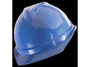 Msa Front Brim Hard Hat, 6 pt. Ratchet Suspension, Blue, Hat Size: 6-1/2 to 8