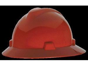 MSA Safety 454736 Red V-Gard Protective Hat w/ Staz-On Suspension