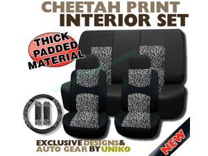 ac5f3fed39d Mesh Cheetah Seat Covers – Animal Print Accent on Thick Padded Black ...