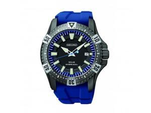 Seiko SNE283 Solar Grey Dial Blue Rubber Divers Men's Watch