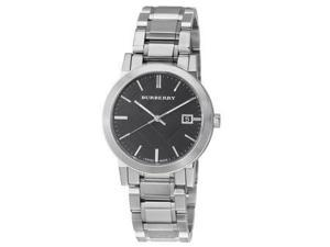 Burberry Black Dial Stainless Steel Unisex Watch BU9001