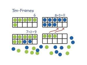 Learning Resources Giant Magnetic Ten-Frame Set (LER6644) LER6644 LEARNING RESOURCES