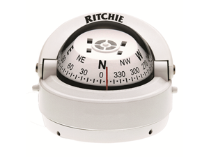 Ritchie S-53W Explorer Compass - Surface Mount - White