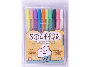 Souffle Opaque Puffy Ink Pens 10/Pkg-Assorted Colors