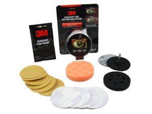 3M Headlight Lens Restoration Auto Detail System Restore Plastic Lenses 39008