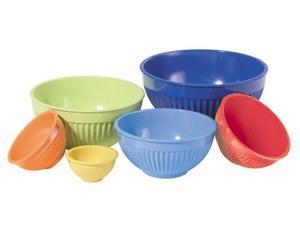 Oggi Melamine Ribbed 6 Piece Mixing Bowl Set