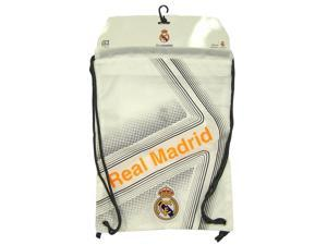 Real Madrid Soccer White Shoulder Sack Backpack by Rhinox Group 074701