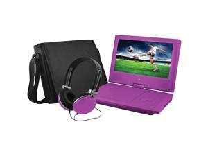 "Ematic EPD909 Portable DVD Player - 9"" Display - 640 x 234 - Purple - DVD-R, CD-R - JPEG - DVD Video, Video CD, MPEG-4 - CD-DA, MP3 - 1 x Headphone Port(s) - Lithium Polymer - 2 Hour"