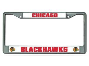Chicago Blackhawks Official NHL License Plate Frame by Rico Industries 012342