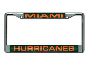 Miami Hurricanes Laser Chrome License Plate Frame