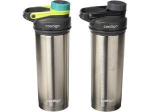 Contigo 2013637 Shake & Go Fit Stainless Steel Shaker Bottle, 24 oz, Flash, 2-Pack