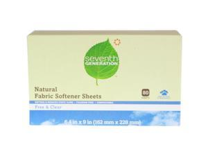 Natural Fabric Softener Sheets, Unscented, 80/Box 22787BX