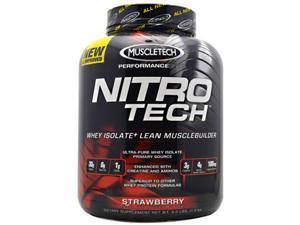 Performance Series Nitro-Tech Strawberry - Muscletech - 4 lb - Powder