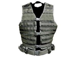 NcStar Paintball Molle/Pals Airsoft Vest - ACU - Large